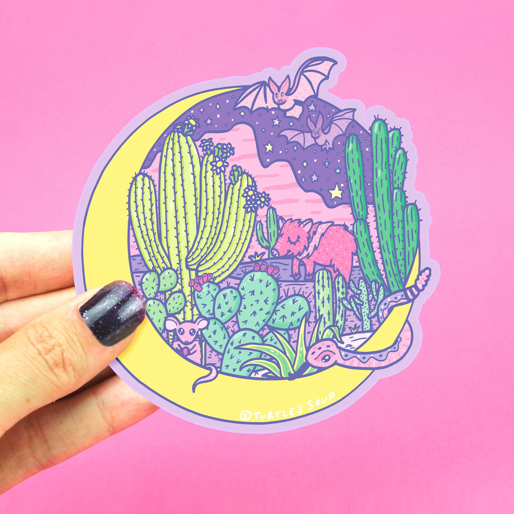 Desert Moon Sticker
