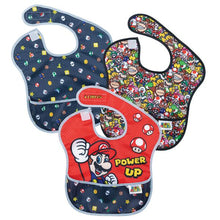 Load image into Gallery viewer, Bumkins SuperBib 3pk, Super Mario Power-Up