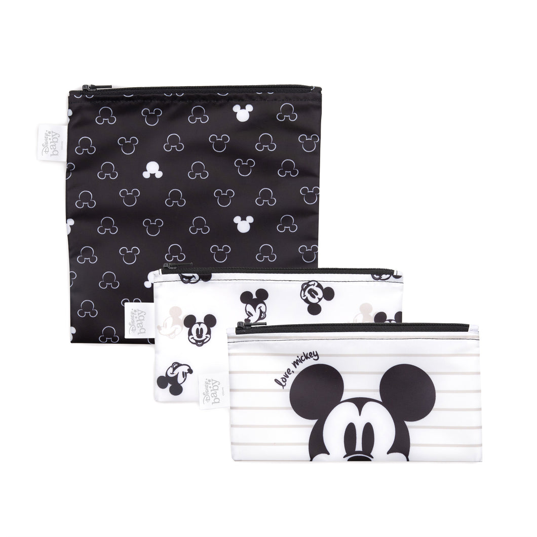 Bumkins Snack Bag Set, Disney, Love Mickey