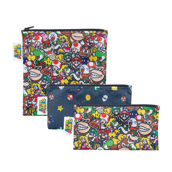Bumkins Snack Bag Set, Super Mario Power Up