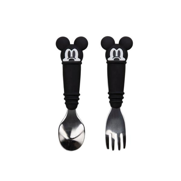 Bumkins Spoon and Fork Set, Mickey Mouse