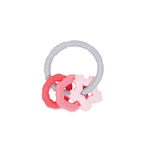 Bumkins Silicone Teething Charms, Pink