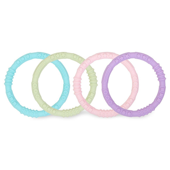 Bumkins Silicone Teething Rings, Spring