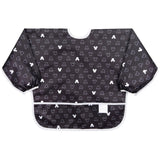 Bumkins Sleeved Bib, Mickey Mouse Icon Black + White