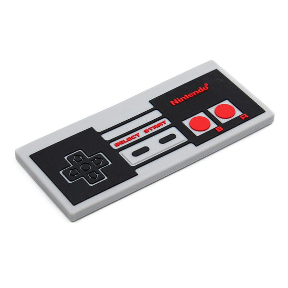 Bumkins Silicone Teether, NES Controller