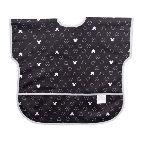 Bumkins Junior Bib, Mickey Mouse Icon Black + White