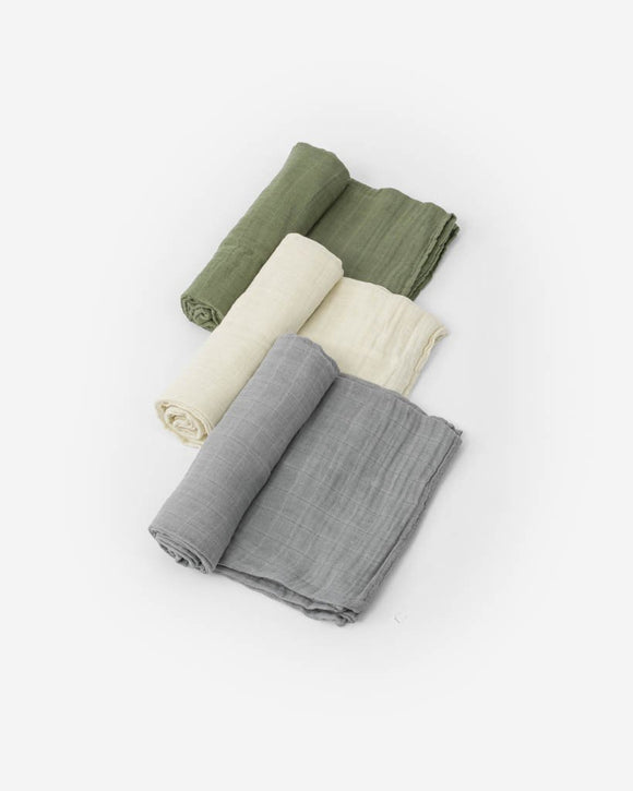 Cotton Muslin Swaddles, Fern
