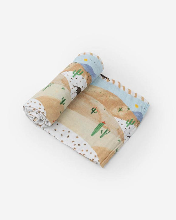 Cotton Muslin Swaddle, Desert Hills