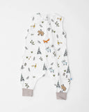 Cotton Muslin Sleep Romper, Forest Friends