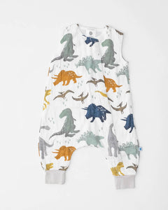 Cotton Muslin Sleep Romper, Dino Friends
