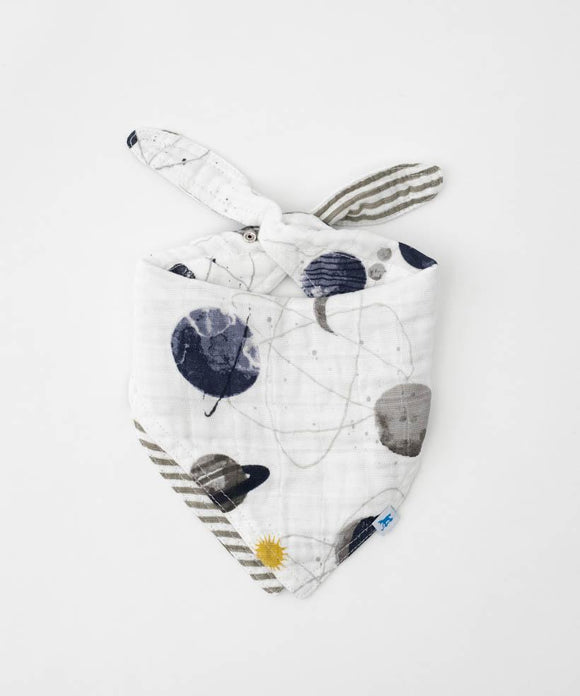 Reversible Cotton Bandana Bib, Planetary