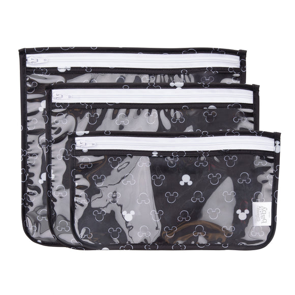 Bumkins Clear Travel Bags, Mickey Mouse Icon Black + White