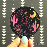 Holographic Desert Coyote Sticker