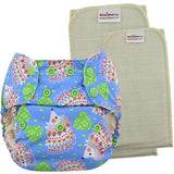 Blueberry Deluxe Pocket Diapers With Organic Cotton Inserts