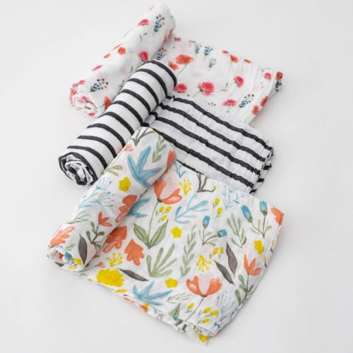 Cotton Muslin Swaddles, Wild Mums