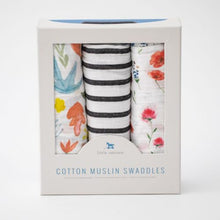 Load image into Gallery viewer, Cotton Muslin Swaddles, Wild Mums