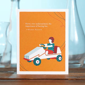 Birthday Card, Orange Car