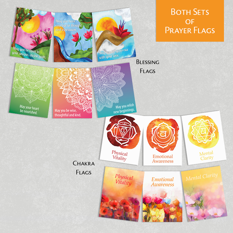 Combo Blessing Flags & Chakra Flags