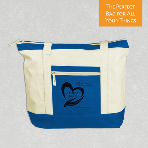 "HT Tote Bag - ""Healing from the Heart"" - Royal Blue"