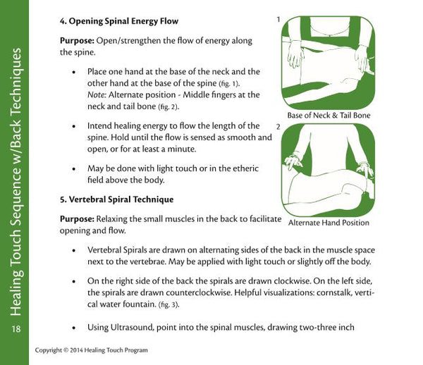 Healing Touch Level 2 Technique Review Cards - Sample Page 1