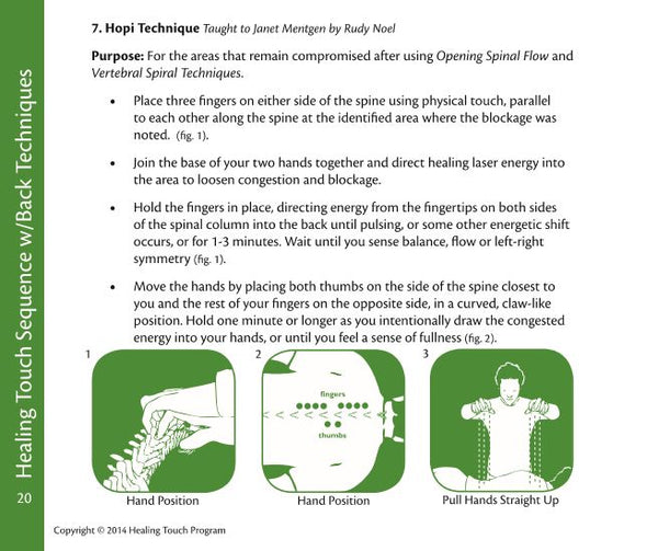 Healing Touch Level 2 Technique Review Cards - Sample Page 2