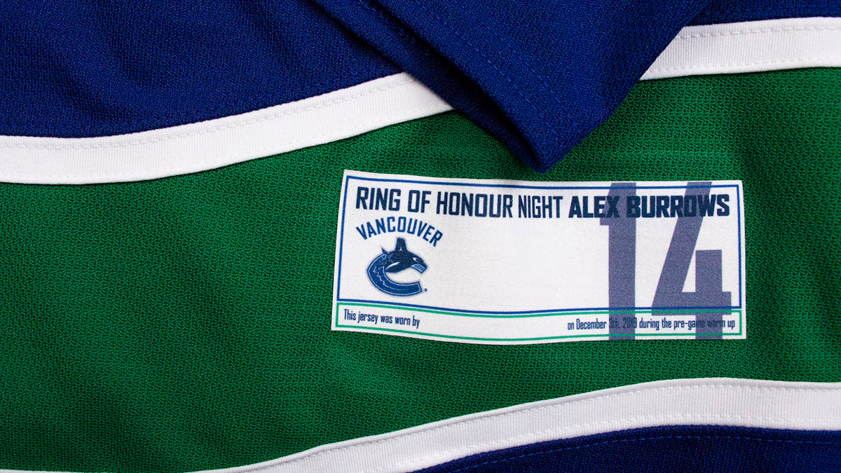 Alex Burrows Ring of Honour Warm Up Signed Jersey Auction