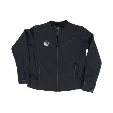 Vancouver Canucks Ladies adidas Orca Moto Jacket