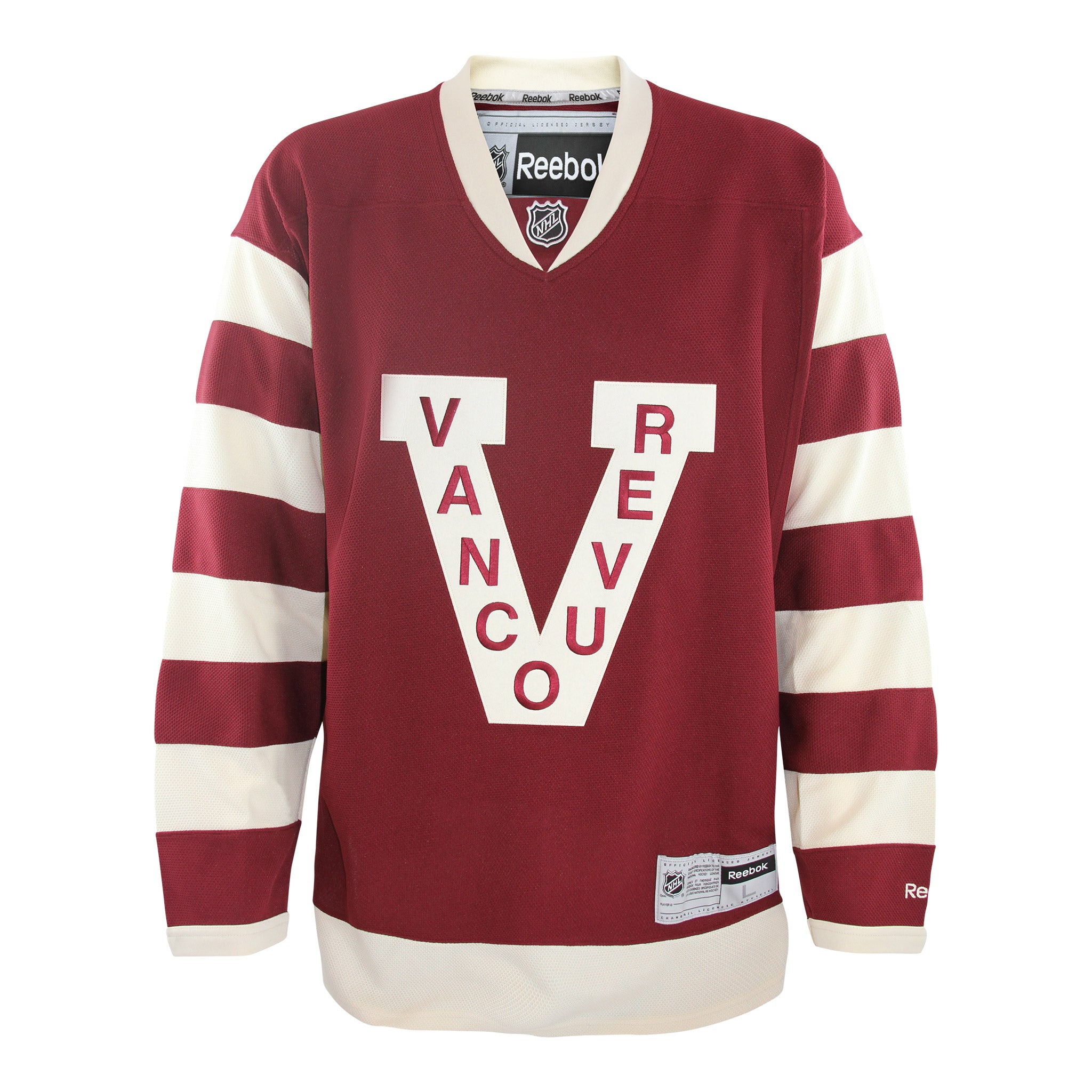 Vancouver Canucks Reebok Vintage Millionaires Jersey Blank 2702ad3fa