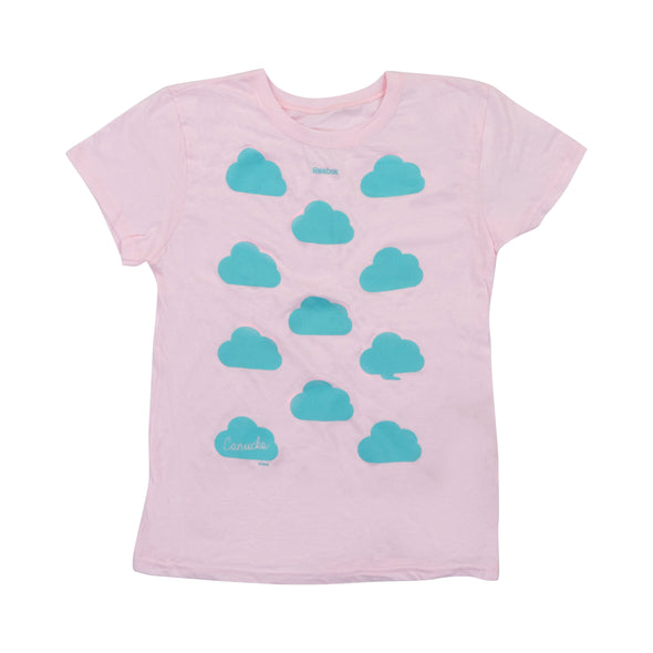 Vancouver Canucks Youth Cloud Tee Pink