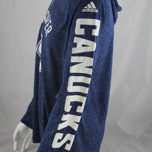 Vancouver Canucks Men's Adidas Journeyman Long Sleeve Hoody Blue - Vanbase
