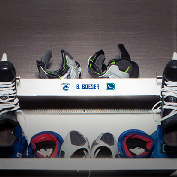 Vancouver Canucks Locker Room Name Plates - Vanbase