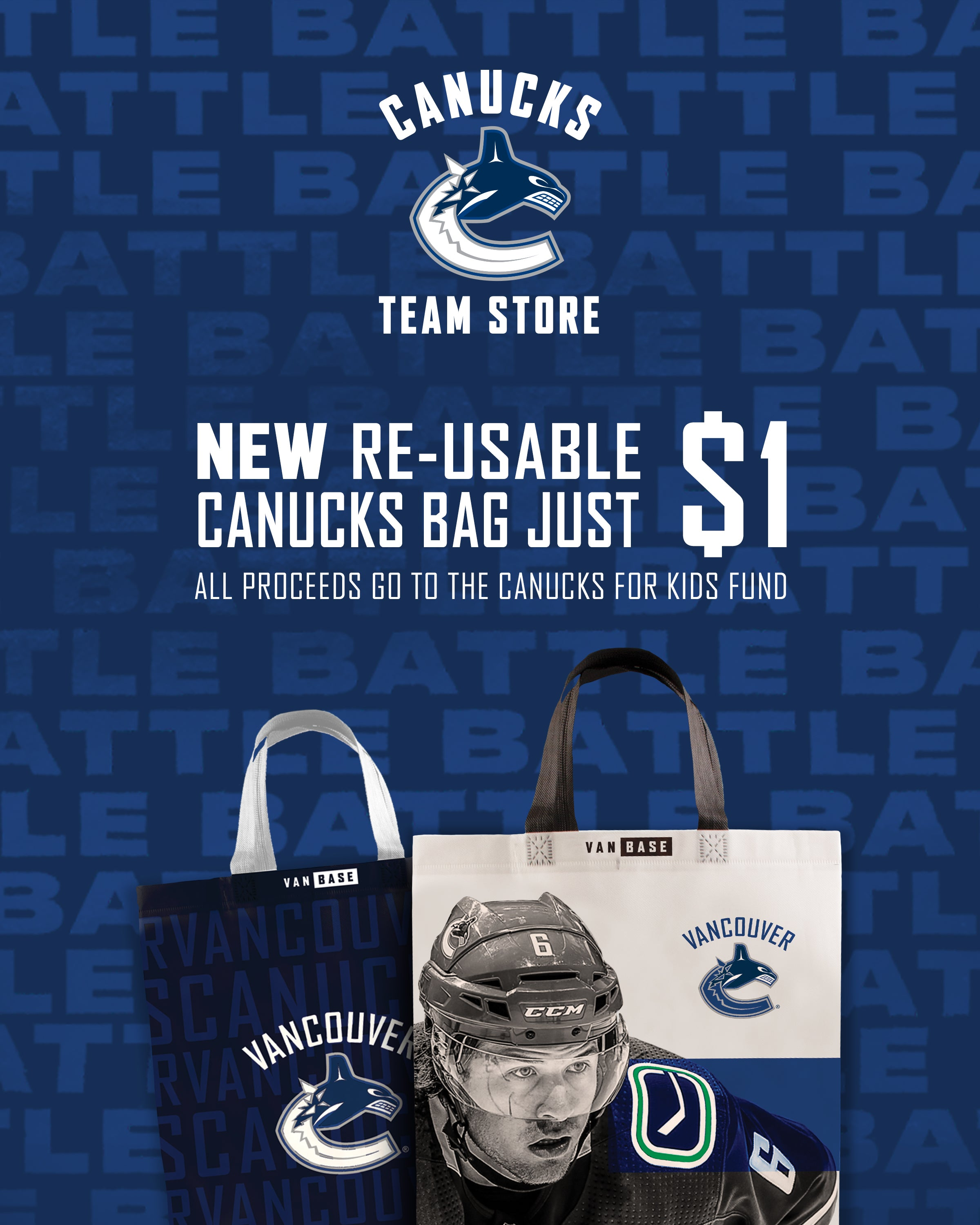 best service 90996 60a3b Vancouver Canucks Re-Usable Bag