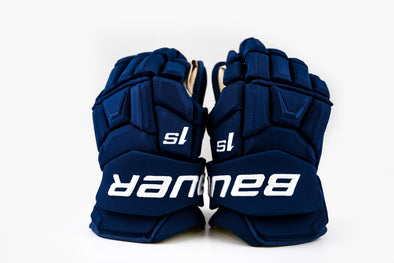 "Canucks Used Bauer 1S 14"" Gloves"