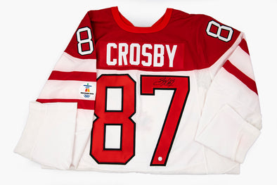 Crosby White Team Canada Jersey, Signed