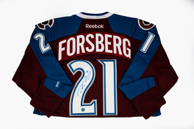 Forsberg Avalanche Home Jersey, Signed