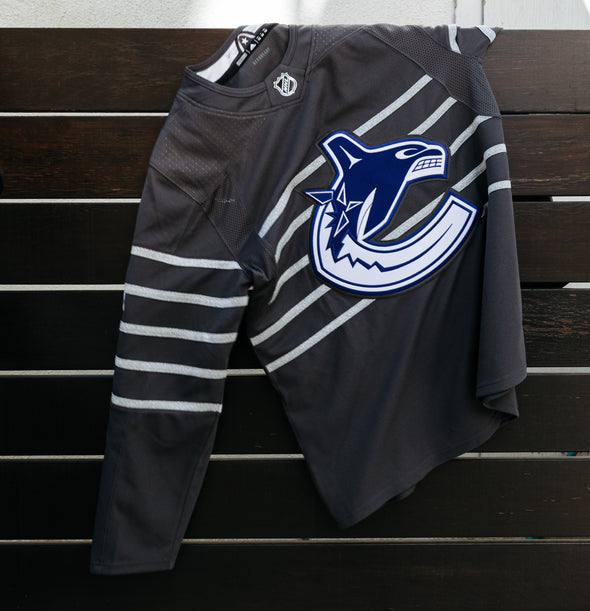Vancouver Canucks Q. Hughes Youth All Star Jersey (Storm Grey)