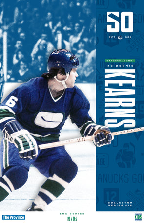 "Vancouver Canucks ""1970 Series"" Dennis Kearns"