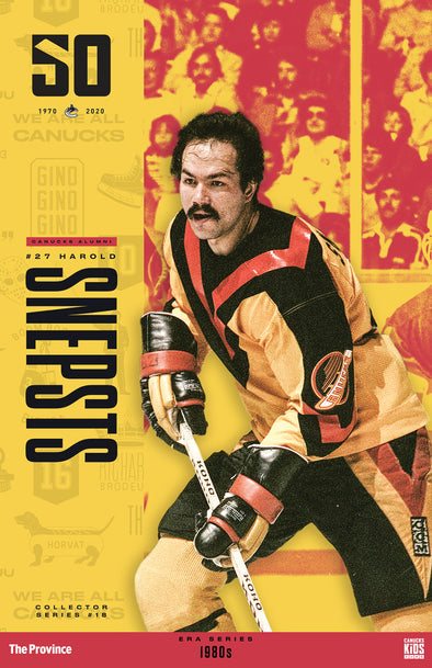 "Vancouver Canucks ""1980 Series"" Harold Snepsts"