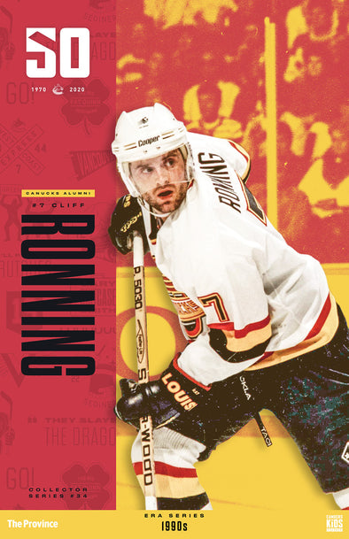 "Vancouver Canucks ""1990 Series"" Cliff Ronning"