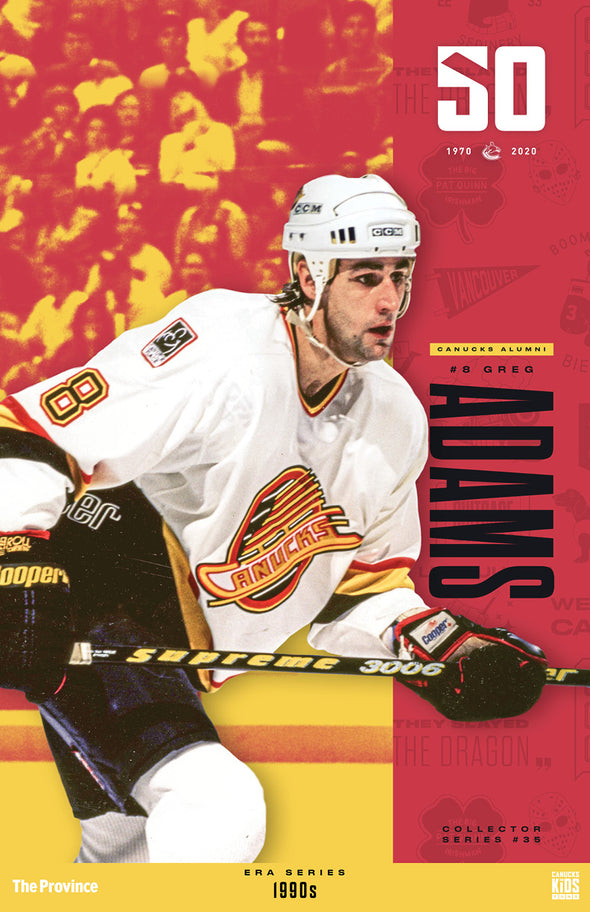 "Vancouver Canucks ""1990 Series"" Greg Adams"