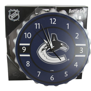 Vancouver Canucks Bottlecap Clock - Vanbase