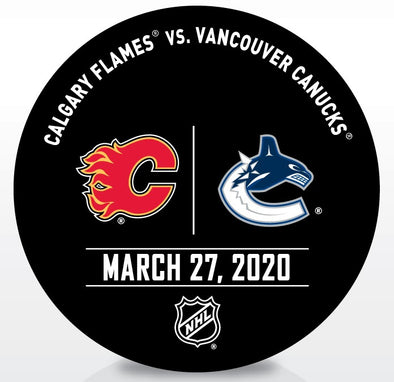 Canucks vs. Flames Warm Up Puck- March 27 2020