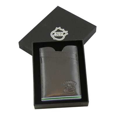 Vancouver Canucks JF Sports Leather Thin Wallet - Vanbase