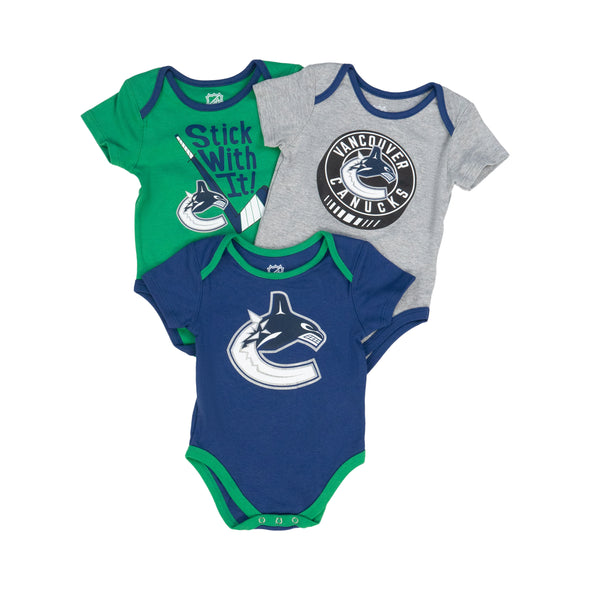 Vancouver Canucks Infant Onsie 3PK Set