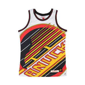 Vancouver Canucks Mens M&N Big Face Basketball Jersey Skate