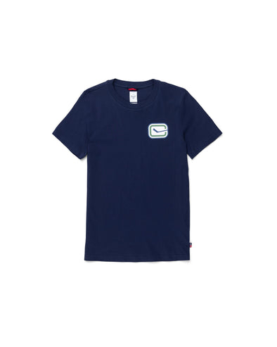 Vancouver Canucks Womens Herschel Stick T-Shirt (Navy)
