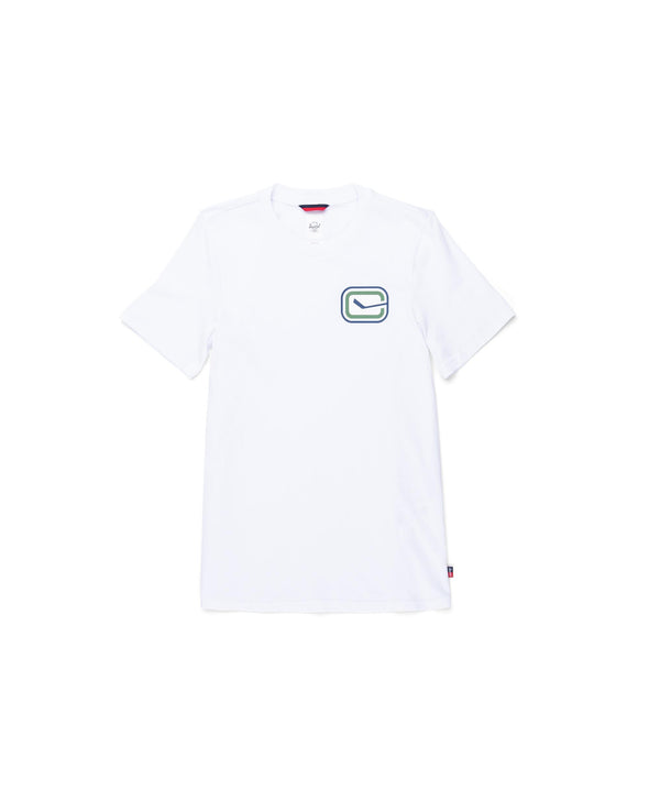 Vancouver Canucks Womens Herschel Stick T-Shirt (White)