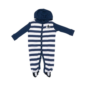Vancouver Canucks Infant Striped Sleeper Onsie