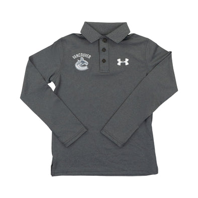 Vancouver Canucks Youth UA LS Polo