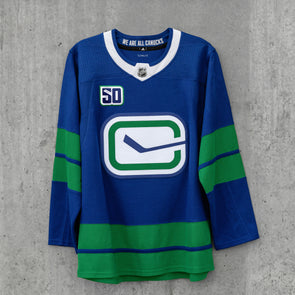 Vancouver Canucks Adidas Pro Blank Heritage Jersey